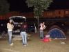 La tente montée par la gendarmerie